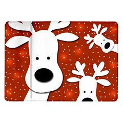 Christmas Reindeer   Red 2 Samsung Galaxy Tab 10 1  P7500 Flip Case