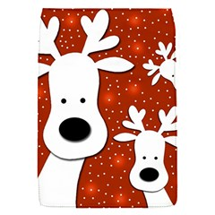 Christmas Reindeer   Red 2 Flap Covers (s)  by Valentinaart