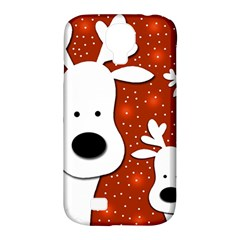 Christmas Reindeer   Red 2 Samsung Galaxy S4 Classic Hardshell Case (pc+silicone) by Valentinaart