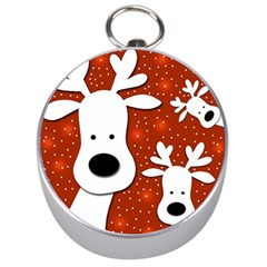 Christmas Reindeer   Red 2 Silver Compasses by Valentinaart
