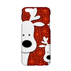 Christmas Reindeer   Red 2 Apple Iphone 6/6s Hardshell Case