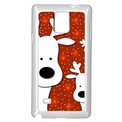 Christmas Reindeer   Red 2 Samsung Galaxy Note 4 Case (white)