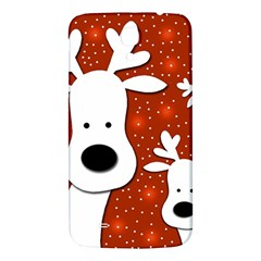 Christmas Reindeer   Red 2 Samsung Galaxy Mega I9200 Hardshell Back Case by Valentinaart