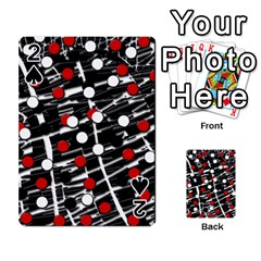 Red And White Dots Playing Cards 54 Designs  by Valentinaart