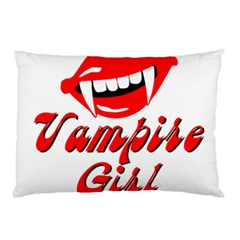 Vampire Girl Pillow Case (two Sides) by igorsin