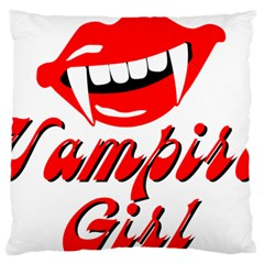 Vampire Girl Standard Flano Cushion Case (one Side) by igorsin