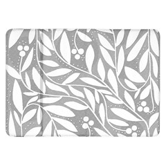Gray And White Floral Pattern Samsung Galaxy Tab 8 9  P7300 Flip Case