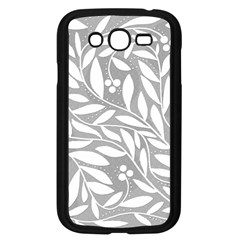 Gray And White Floral Pattern Samsung Galaxy Grand Duos I9082 Case (black) by Valentinaart