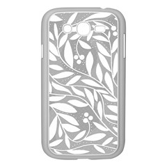 Gray And White Floral Pattern Samsung Galaxy Grand Duos I9082 Case (white) by Valentinaart