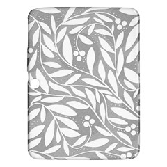 Gray And White Floral Pattern Samsung Galaxy Tab 3 (10 1 ) P5200 Hardshell Case  by Valentinaart
