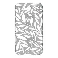 Gray And White Floral Pattern Samsung Galaxy Mega I9200 Hardshell Back Case