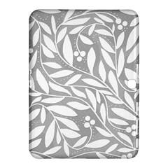 Gray And White Floral Pattern Samsung Galaxy Tab 4 (10 1 ) Hardshell Case