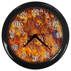 Rusted Metal Surface Wall Clocks (black) by igorsin