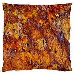 Rusted Metal Surface Large Flano Cushion Case (two Sides) by igorsin