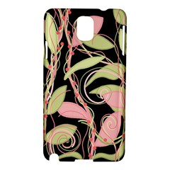 Pink And Ocher Ivy Samsung Galaxy Note 3 N9005 Hardshell Case by Valentinaart