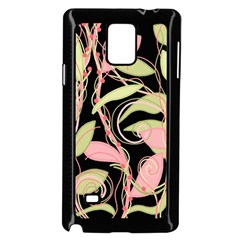 Pink And Ocher Ivy Samsung Galaxy Note 4 Case (black)