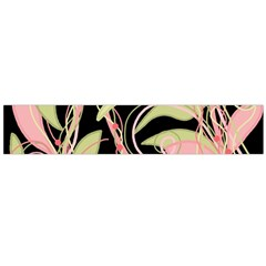 Pink And Ocher Ivy Flano Scarf (large) by Valentinaart