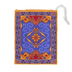 Magic Carpet Drawstring Pouch (xl) by Ellador