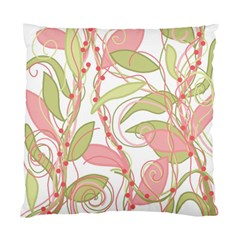 Pink And Ocher Ivy 2 Standard Cushion Case (one Side) by Valentinaart