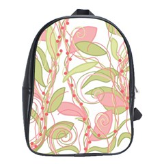 Pink And Ocher Ivy 2 School Bags(large)