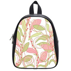 Pink And Ocher Ivy 2 School Bags (small)  by Valentinaart