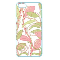 Pink And Ocher Ivy 2 Apple Seamless Iphone 5 Case (color) by Valentinaart