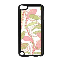 Pink And Ocher Ivy 2 Apple Ipod Touch 5 Case (black) by Valentinaart