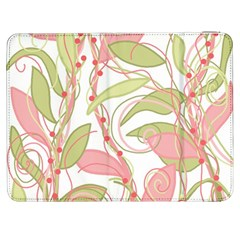 Pink And Ocher Ivy 2 Samsung Galaxy Tab 7  P1000 Flip Case by Valentinaart