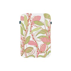 Pink And Ocher Ivy 2 Apple Ipad Mini Protective Soft Cases by Valentinaart