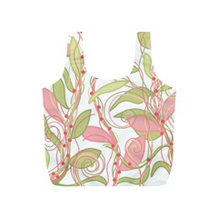 Pink And Ocher Ivy 2 Full Print Recycle Bags (s)  by Valentinaart
