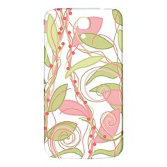 Pink And Ocher Ivy 2 Samsung Galaxy Mega I9200 Hardshell Back Case by Valentinaart