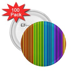 Colorful Lines 2 25  Buttons (100 Pack)  by Valentinaart