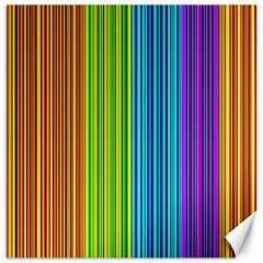 Colorful Lines Canvas 16  X 16   by Valentinaart