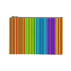 Colorful Lines Cosmetic Bag (large)  by Valentinaart