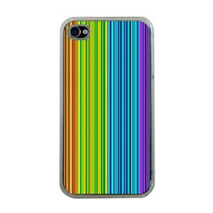 Colorful Lines Apple Iphone 4 Case (clear)
