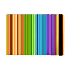 Colorful Lines Apple Ipad Mini Flip Case by Valentinaart