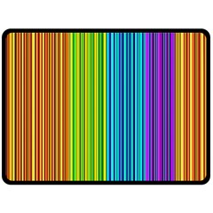 Colorful Lines Double Sided Fleece Blanket (large)  by Valentinaart