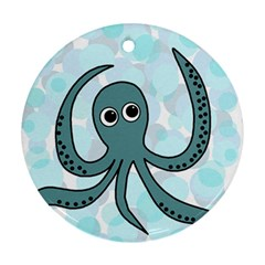 Octopus Ornament (round)  by Valentinaart