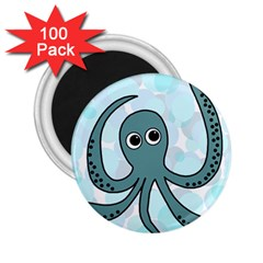 Octopus 2 25  Magnets (100 Pack)  by Valentinaart