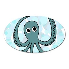 Octopus Oval Magnet by Valentinaart