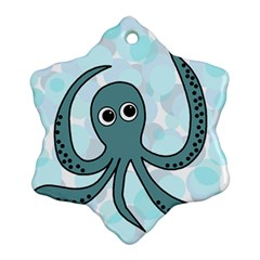 Octopus Snowflake Ornament (2 Side) by Valentinaart