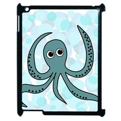 Octopus Apple Ipad 2 Case (black) by Valentinaart