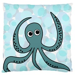 Octopus Standard Flano Cushion Case (two Sides) by Valentinaart