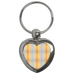 Blue Yellow Summer Pattern Key Chains (heart)  by Costasonlineshop