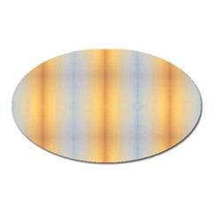 Blue Yellow Summer Pattern Oval Magnet by Costasonlineshop