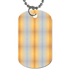 Blue Yellow Summer Pattern Dog Tag (one Side)