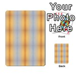 Blue Yellow Summer Pattern Multi-purpose Cards (Rectangle)  Back 9