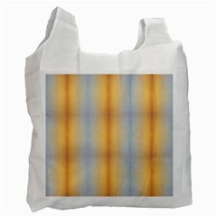 Blue Yellow Summer Pattern Recycle Bag (two Side)  by Costasonlineshop