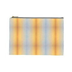 Blue Yellow Summer Pattern Cosmetic Bag (large)  by Costasonlineshop