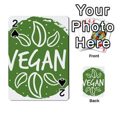 Vegan Label3 Scuro Playing Cards 54 Designs  by CitronellaDesign